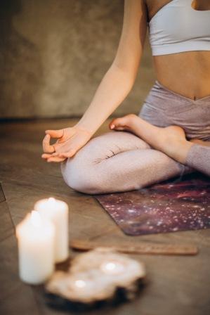 Yoga Kerze